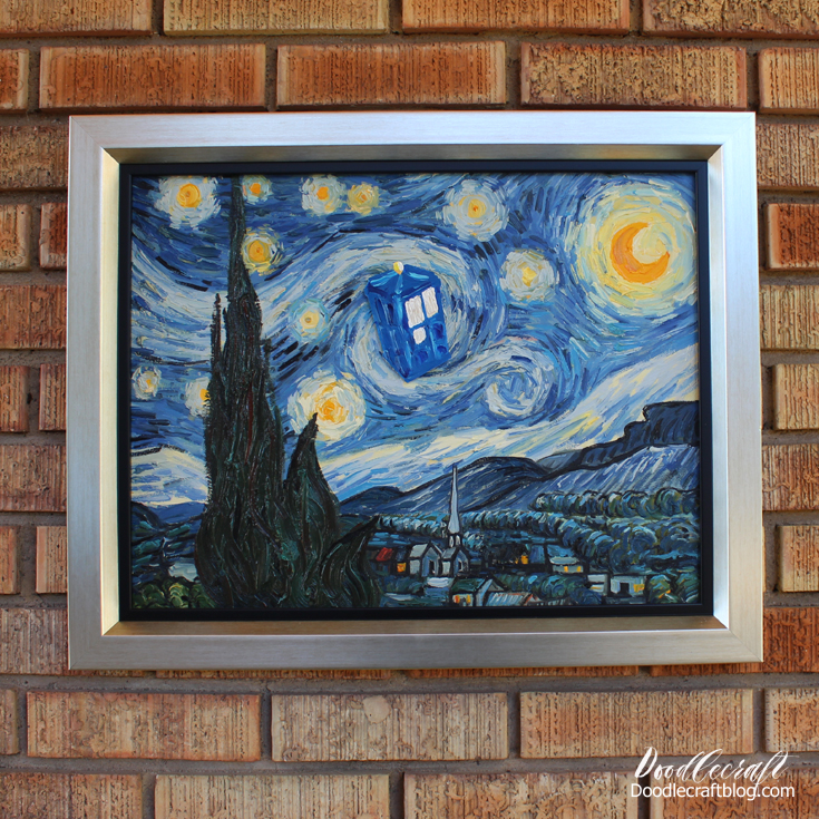 Doctor Who Week Starry Night Tardis Painting