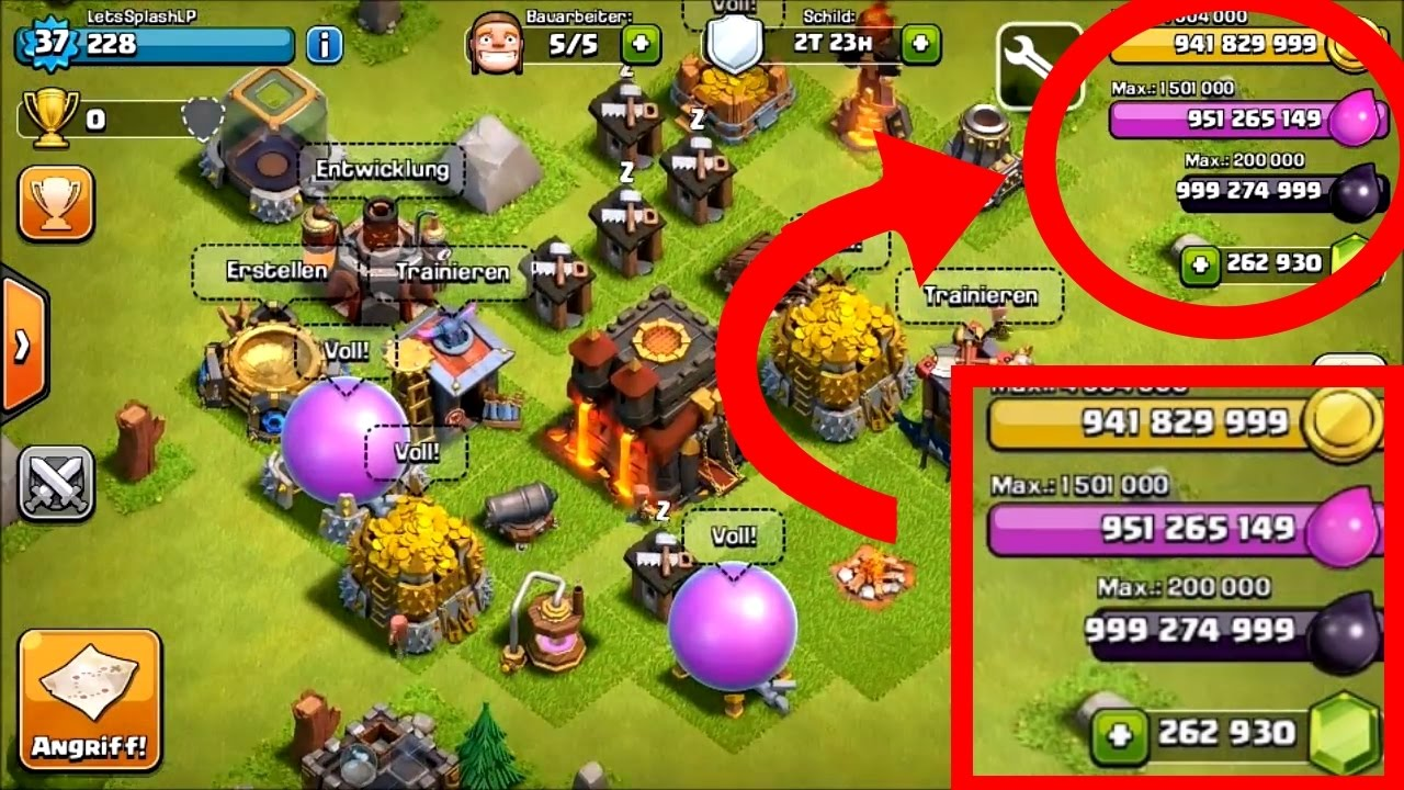clash of clans hack free unlimited gems no root and jailbreak updated 2017 originalres