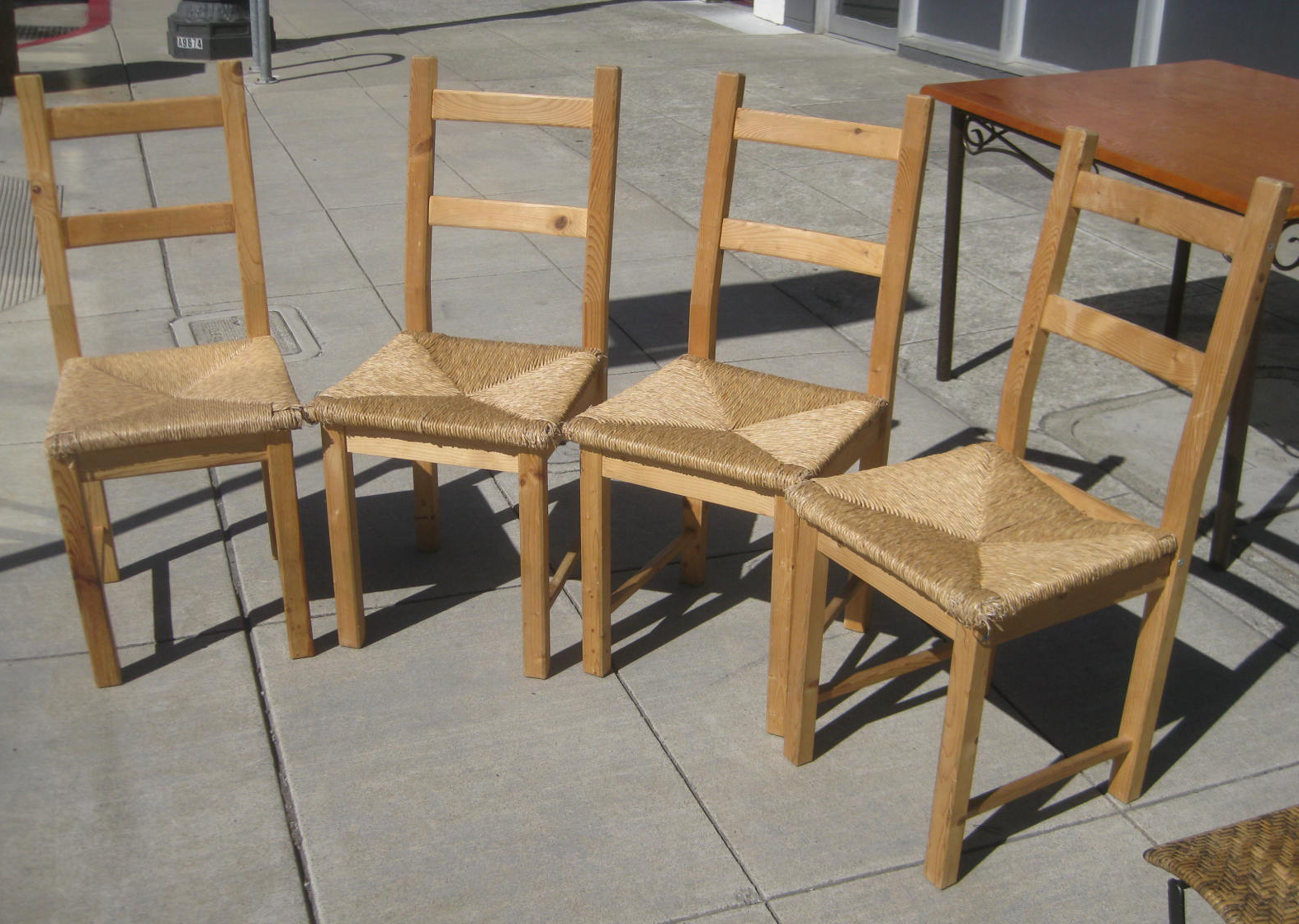 rush seat chairs 15 inch round chair cushions uhuru furniture collectibles sold 25 each
