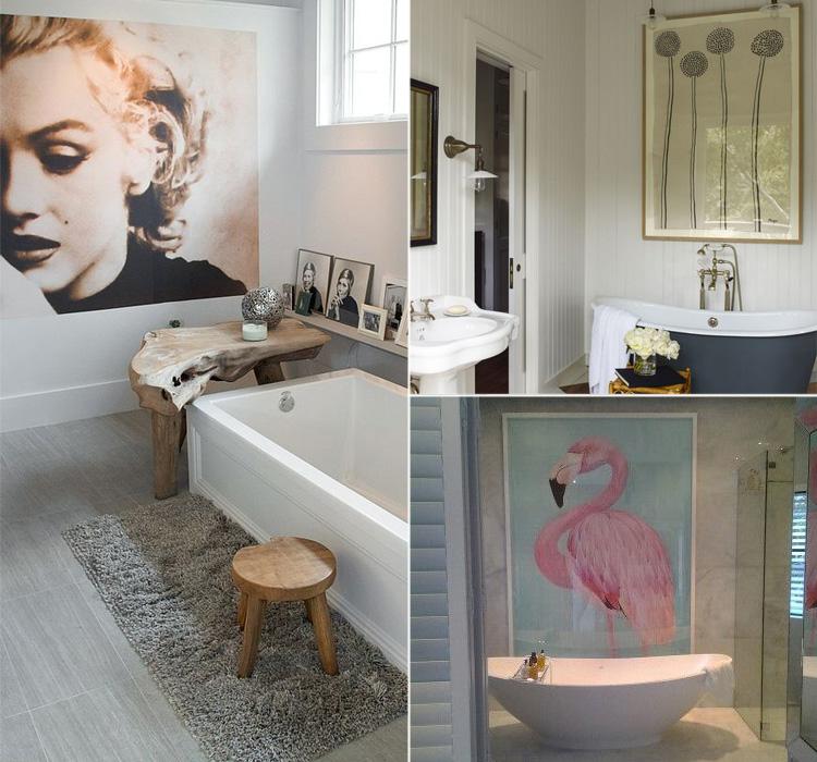 Appendi i quadri in bagno - Arredamento facile