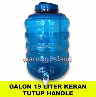 Galon 19 Liter Keran PET Biru