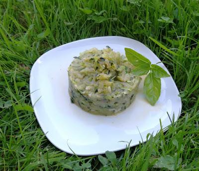Lauwarmer Zucchinisalat - marokkanisch angehaucht
