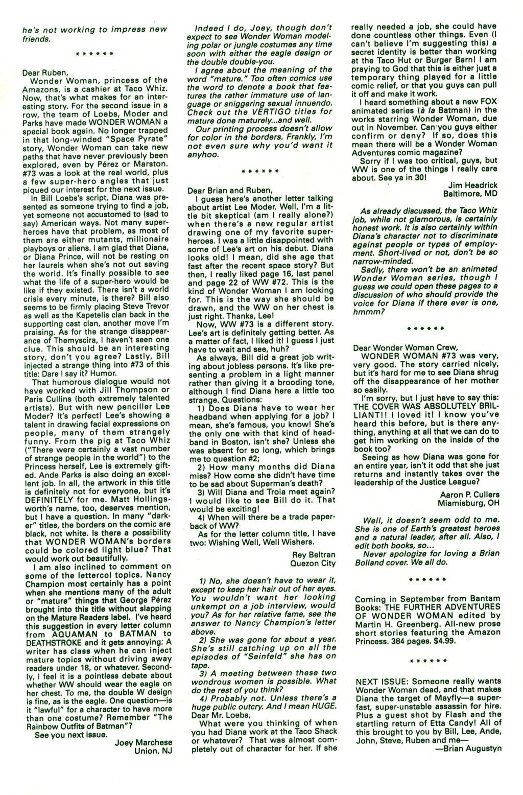 Read online Wonder Woman (1987) comic -  Issue #77 - 25