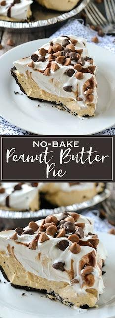 NO-BAKE PEANUT BUTTER PIE