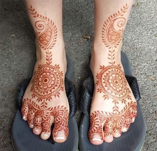 Mehndi Simple Kaki : Desain motif henna di kaki untuk pernikahan contoh