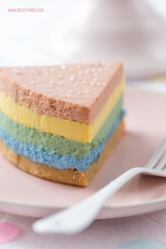 Regenbogen Cheesecake Rainbow Cheesecake bunter Käsekuchen #regenbogen #käsekuchen #cheesecake #rainbow #einhorn #geburtstag