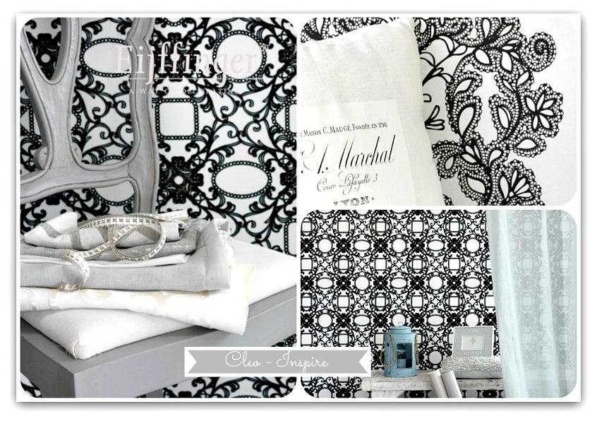czarno-białe dekoracje
