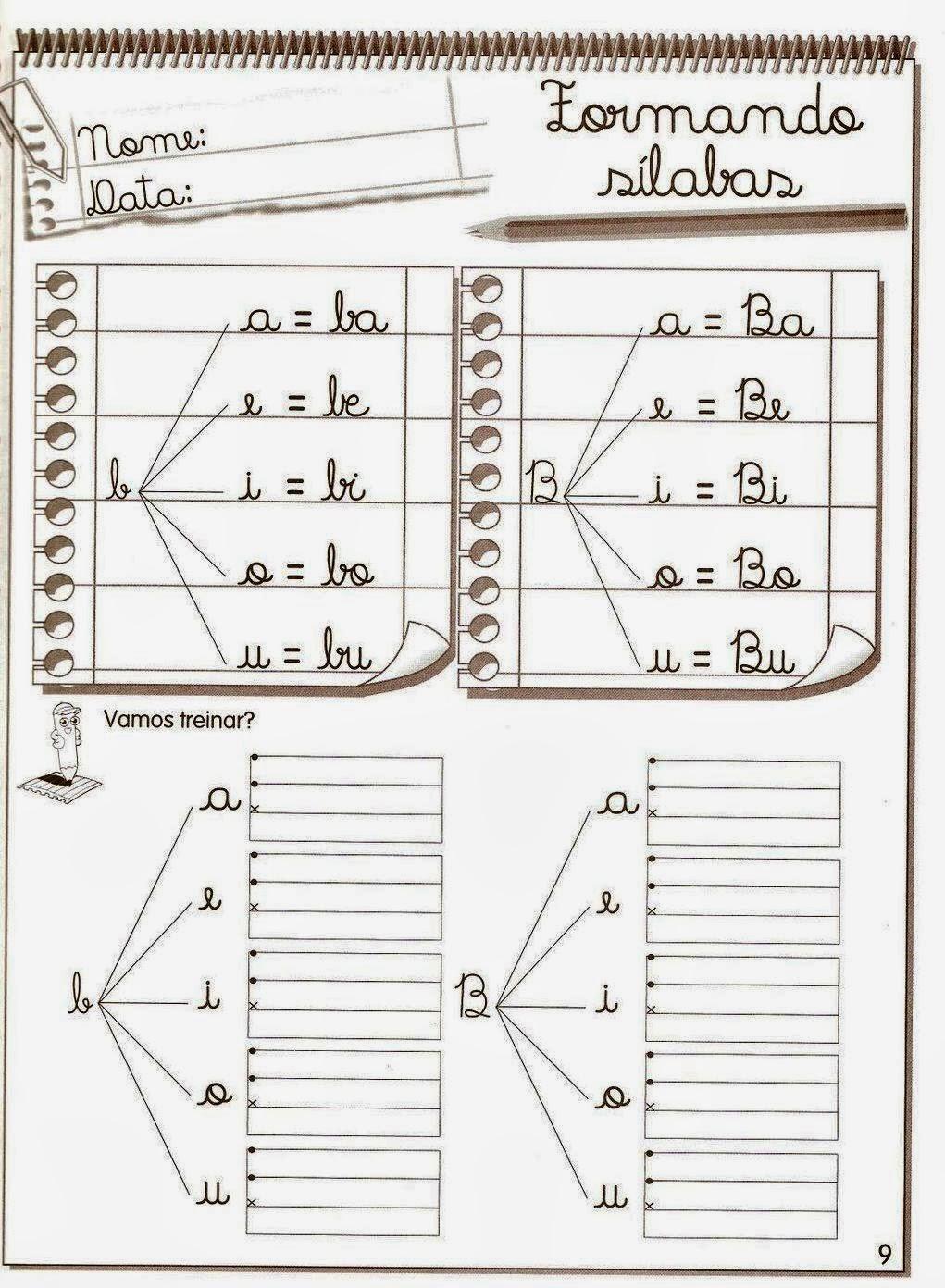 Blog Professor Zezinho Atividades De Alfabetizacao Para Imprimir
