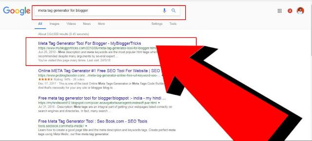 Meta Tag Generators For Blogger