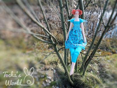 Ostara, Easter, rabbit, hare, Tilda doll, angel, Fairt Trade Fabric, Lewis & Irene, cotton, spring, fair trade fortnight,