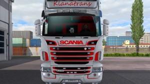 Scania RJL Klanatrans Superina skin mod
