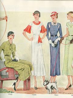 Modelos de antigua revista de moda