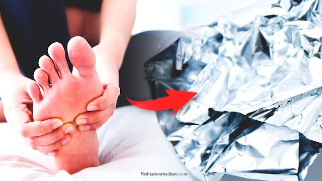 Envuelve tus pies en aluminio resultados sorprendentes
