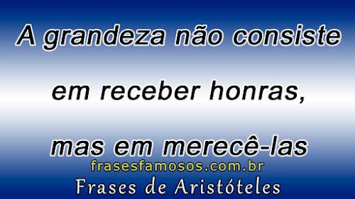 Frases do filósofo grego Aristóteles
