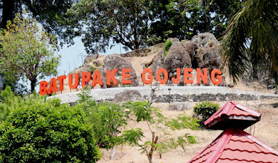Taman Purbakala Batu Gojeng tempat wisata indah paling menakjubkan super alami dan luar biasa inda putus dengan pacar