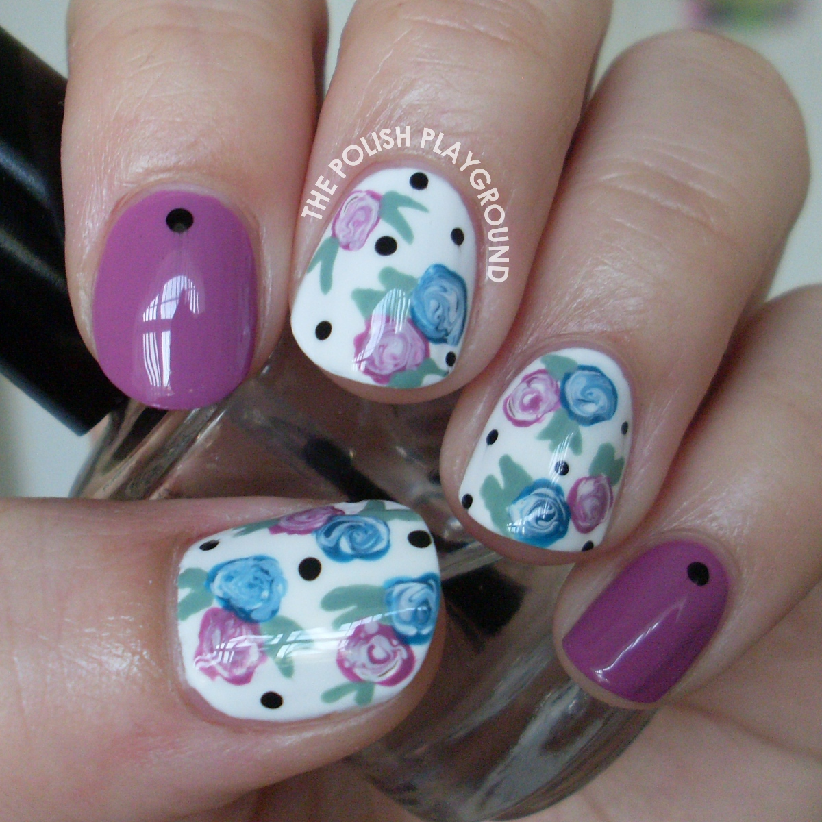 The Polish Playground: Easy Floral Nails