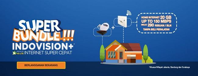 Cara daftar paket internet indovision dan xl.