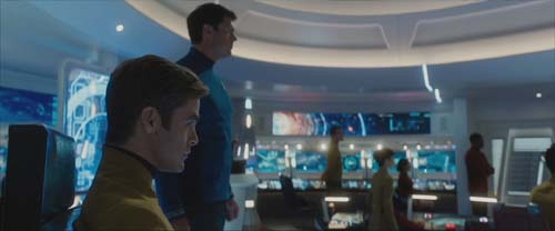 Chris Pine as Kirk, Karl Urban as Bones in Star Trek Beyond