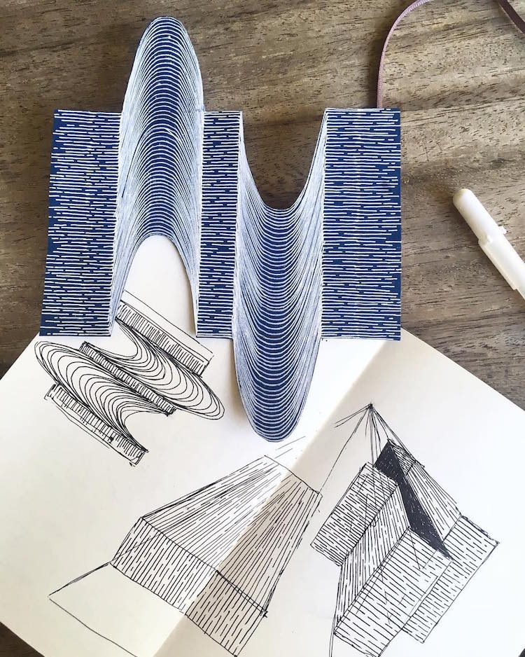 Stunning Hand-Drawn 3D Optical Illusions Play With Depth and Perspective