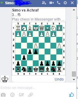 حيلة رائعة في الفايسبوك لللعب مع صديقك الشطرنج في الشات