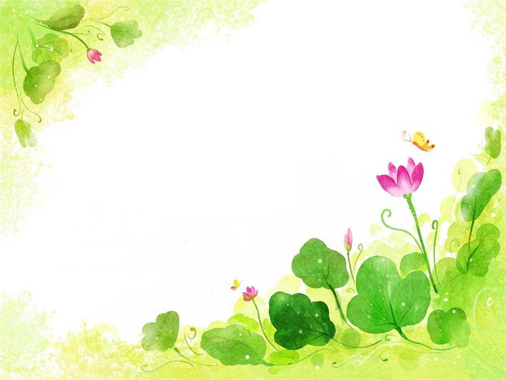 Butterfly and flower PPT background