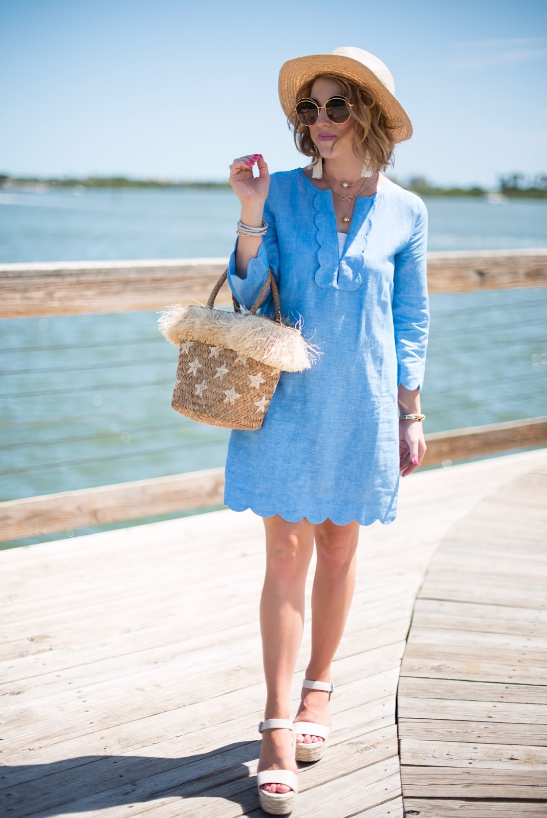 J.Crew Scallop Tunic - Click through to see more on Something Delightful Blog!