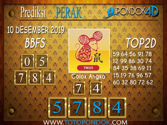 Prediksi Togel PERAK PONDOK4D 10 DESEMBER 2019