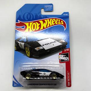 Julian S Hot Wheels Blog Lamborghini Countach Police Car 2019 Hw