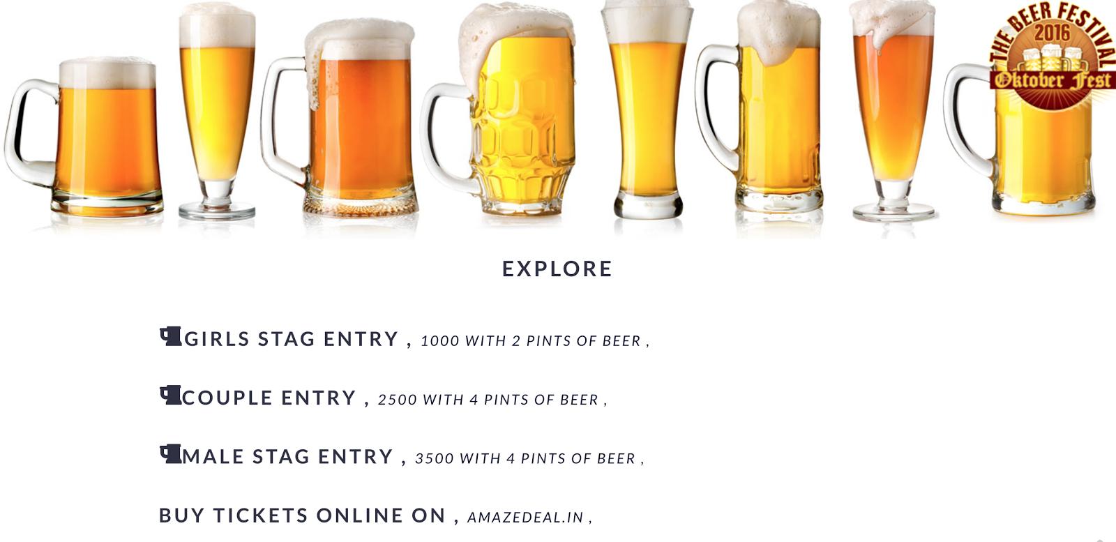 Oktoberfest entry fee