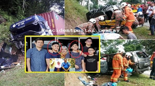 Pelukan terakhir dari ibu .. Ajal dua beradik meraung minta tolong Exora keluarga di rempuh treler (8Gambar)