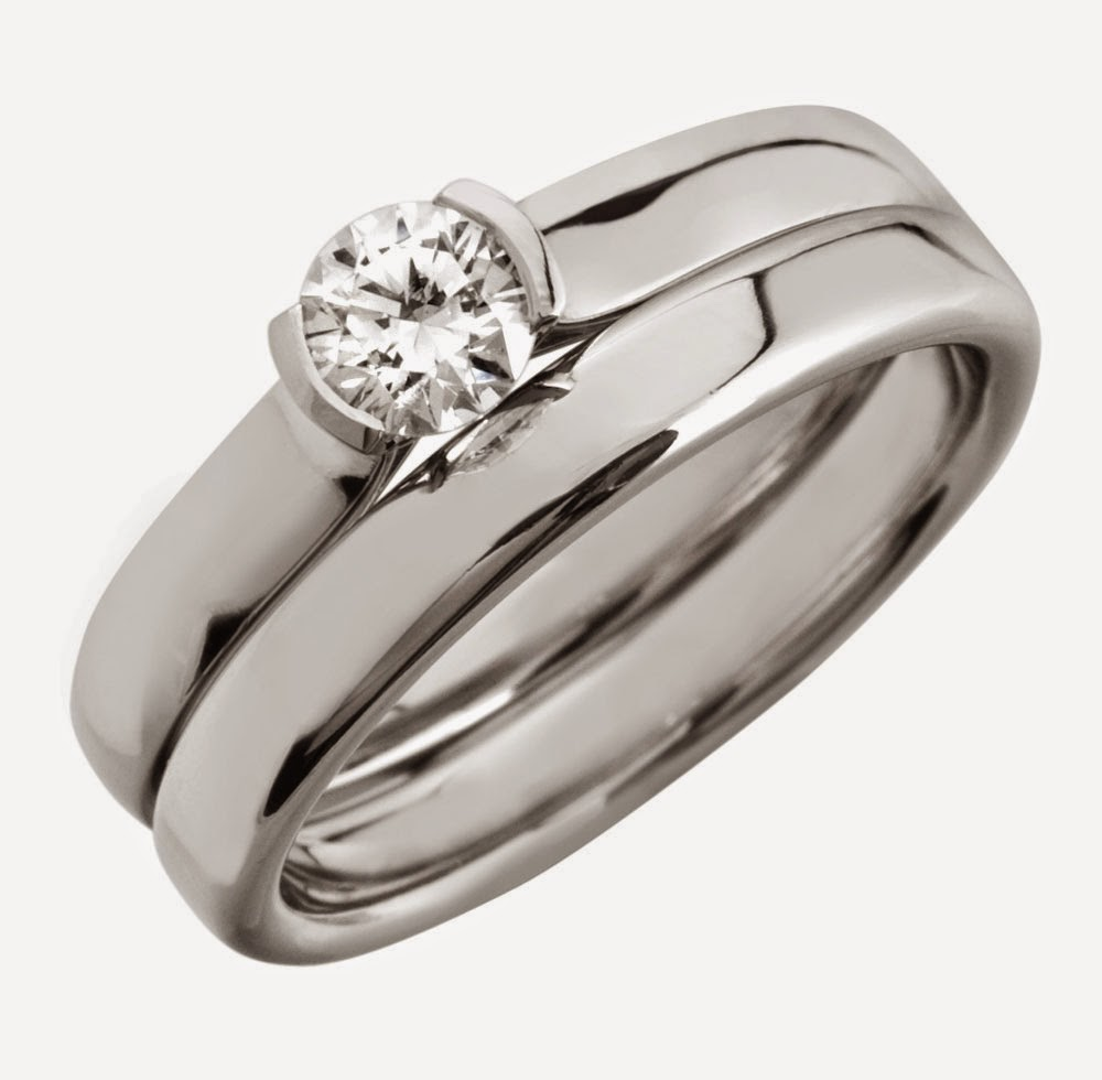 Cheap Silver Bridal Ring Sets with Small Diamond Model