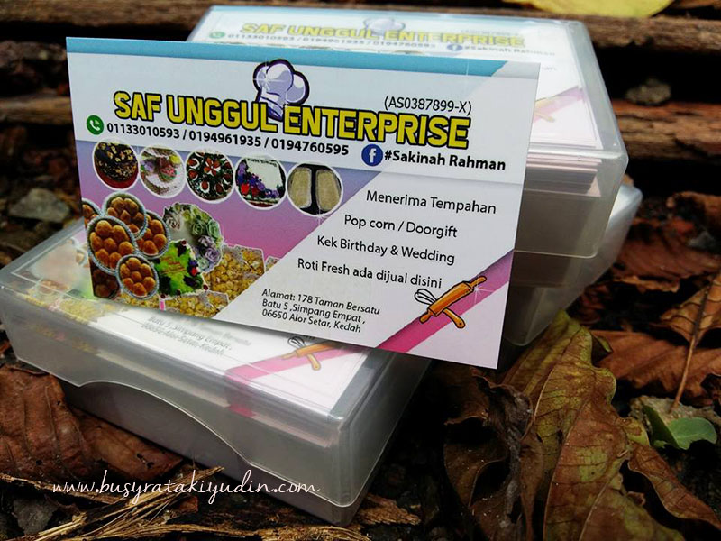 BUSINESS CARD 300PCS UNTUK SAF UNGGUL ENTERPRISE