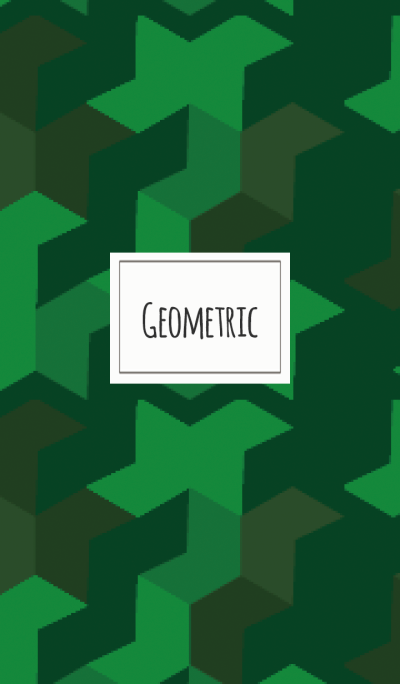 Geometric / green