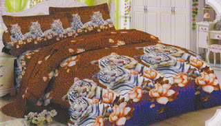 Sprei Lady Rose White Tiger