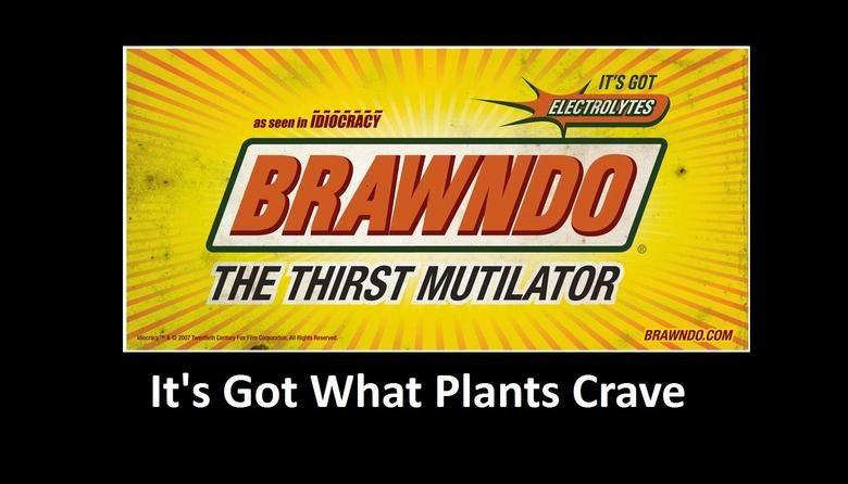 Brawndo its what plants crave