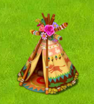 Indian Tepee placed on green grass