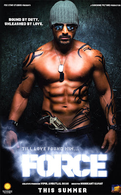 Poster Of Bollywood Movie Force 2011 300MB HDRip 720P Full Hindi Movie movies365.in