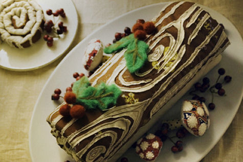 Traditional Cake Eaten At Christmas In France