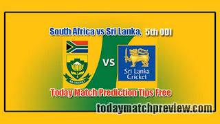 RSA vs SL 5th ODI Today Match Prediction Who will win SL vs RSA
