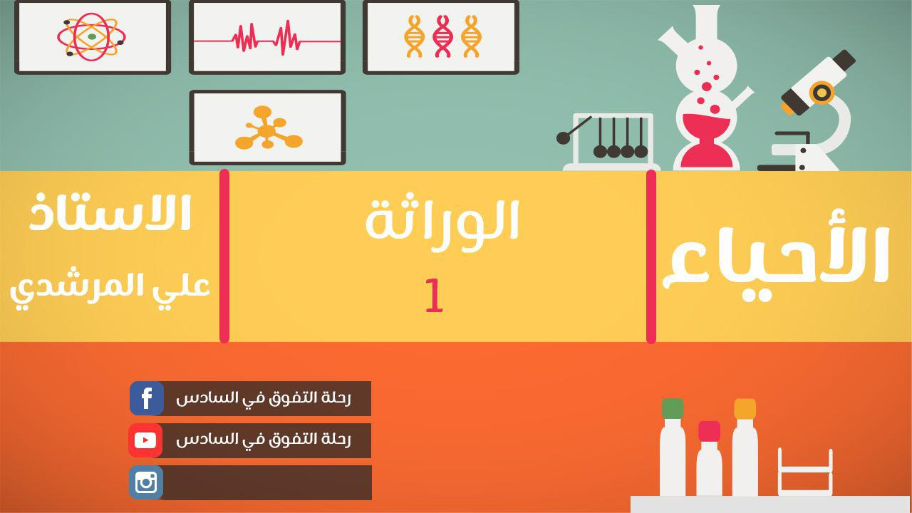 دروس الأحياء : الوراثة الدرس الخامس عشر الاستاذ علي المرشدي