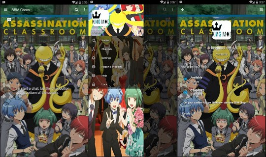 BBM MOD ANIME Assassination Classroom Full Features v3.0.1.25 Terbaru 2016