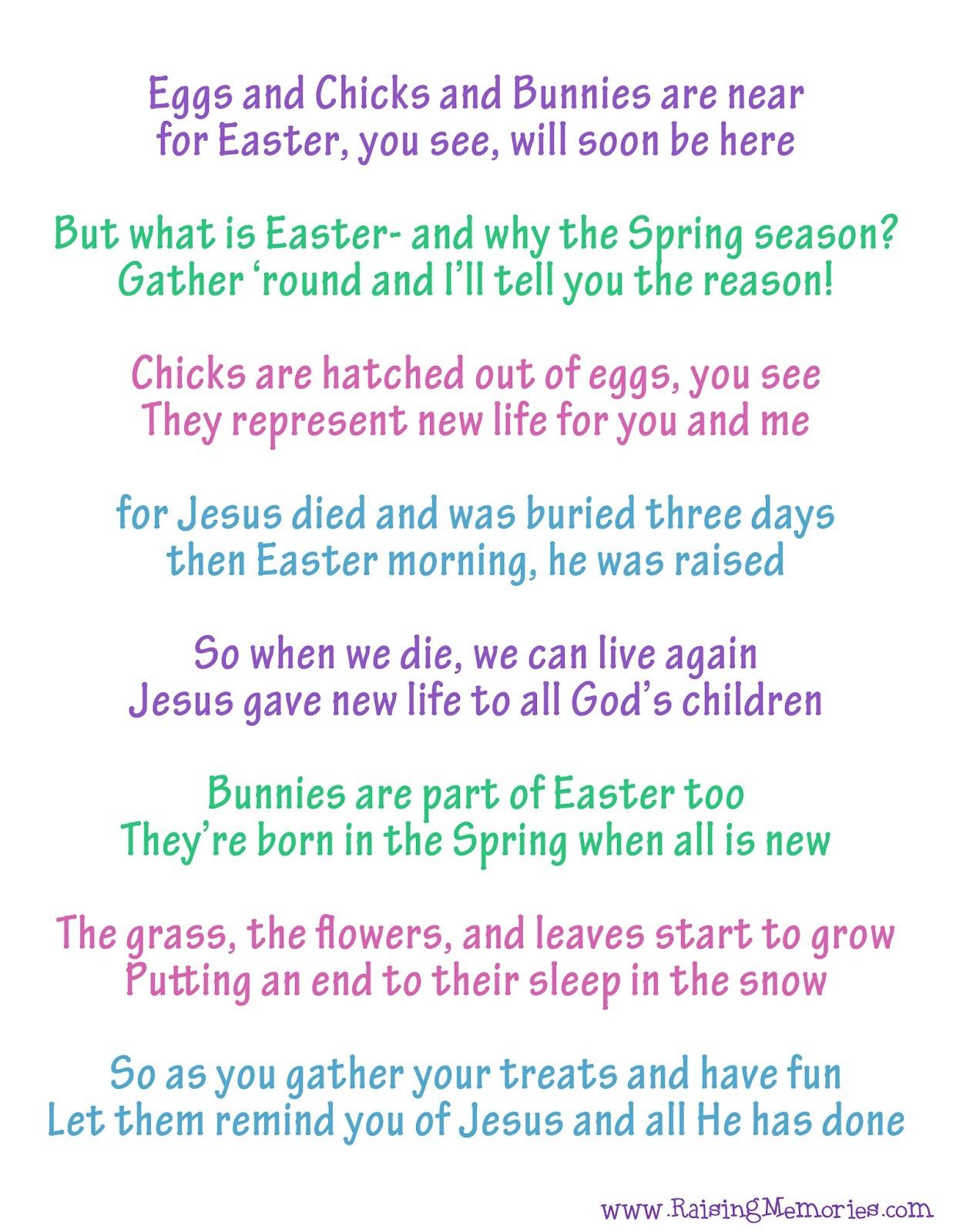 True Meaning Of Easter Poem Easter Symbols