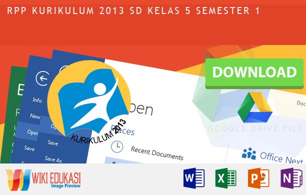 RPP KURIKULUM 2013 SD KELAS 5 SEMESTER 1 - Kerukunan Dalam Bermasyarakat Hasil Revisi Terbaru 2015