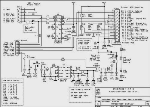 Circuit Schematic GPS Receiver Support Kit ~ ROBOTRONICDIAGRAM
