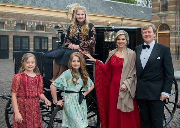 Princess Amalia wore SELF PORTRAIT Guipure Lace and Crepe Dress, We saw that dress on Meghan Markle on December 20th.
