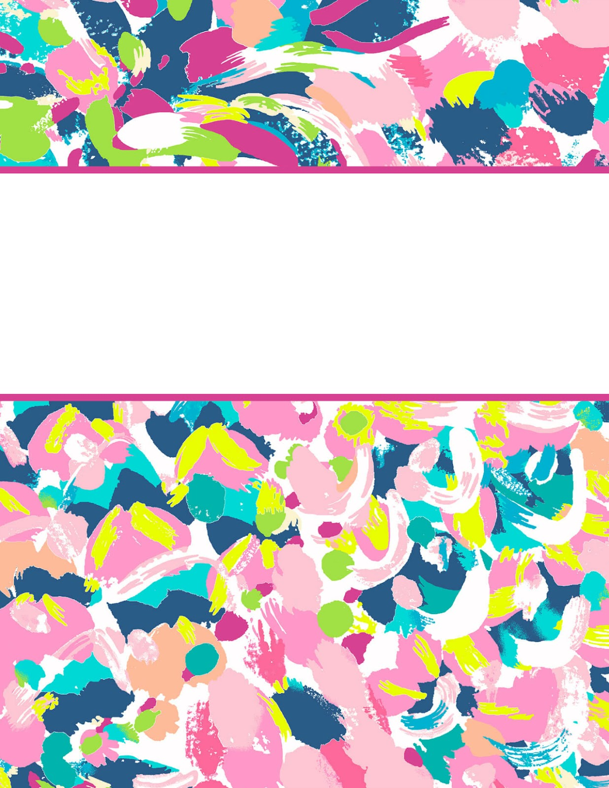 Terrible image regarding lilly pulitzer printable binder covers