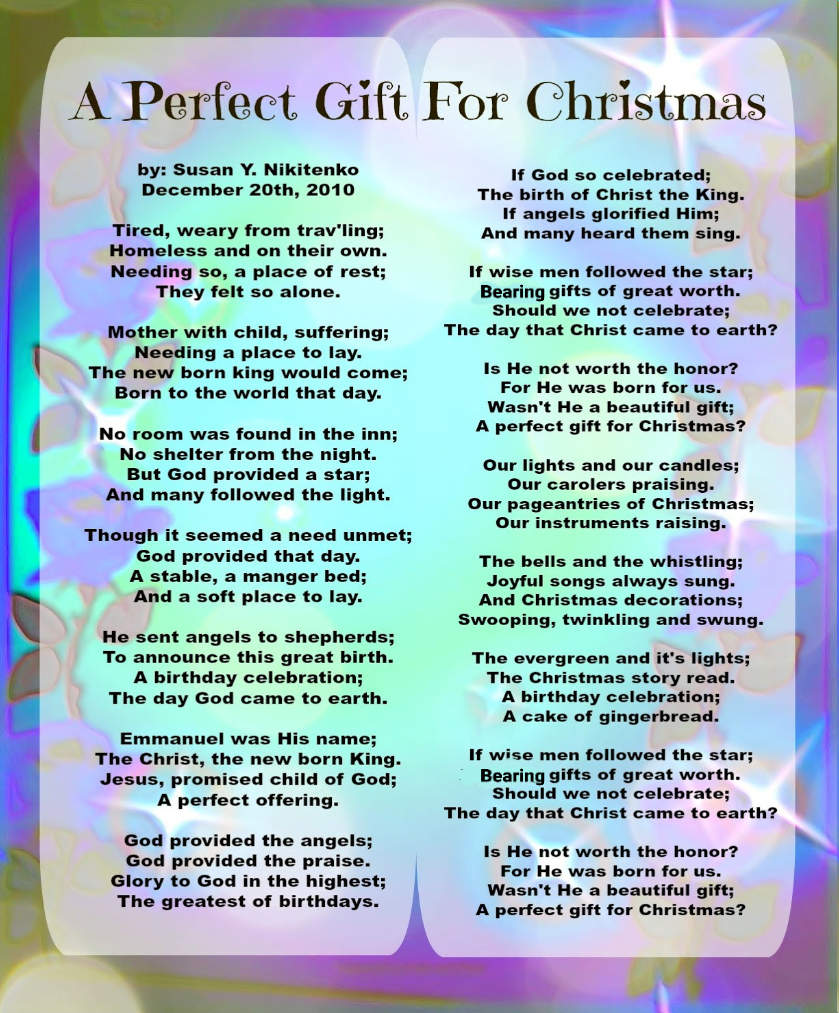 christ and christmas a poem