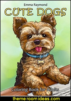 Cute Dogs Coloring Book for Adults   pet gift ideas - gifts for pets - gifts for dogs - gifts for cats - creative gifts for animal lovers‎ - gifts for pet owners pet stuff - cool stuff to buy - pet supplies - pet cookie jars - dog throw pillows - dog themed bedding - cat throw pillows - paw pillows - gifts for cat loving friends - gifts for dog loving friends