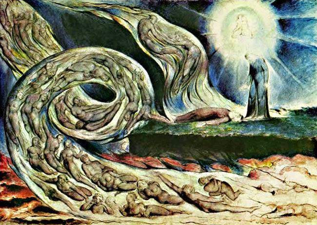 William Blake Torbellino de amantes o Circulo de los lujuriosos