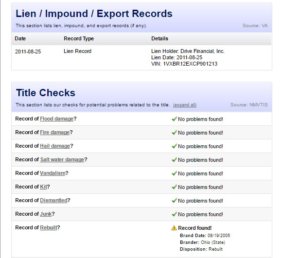 What Is In A Vehicle History Report Cheap Carfax Alternative